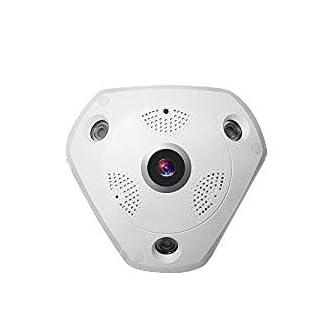 Masione 360 Panorama Wireless IP-Kamera Zwei-Wege-Audio 3 Megapixed HD Fischaugenobjektiv 10 m Nachtsicht VR Home Security Überwachungskamera System