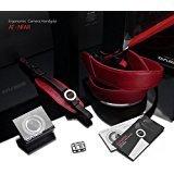 Gariz Bundle Italian Leather with Alcantara Version AT-NFAR Neck Strap + Hand Grip for DSLR