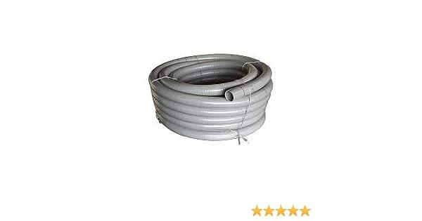 Flexschlauch 12 m Klebeschlauch PVC Flexrohr 50 mm für Pool Schwimmbad Teich