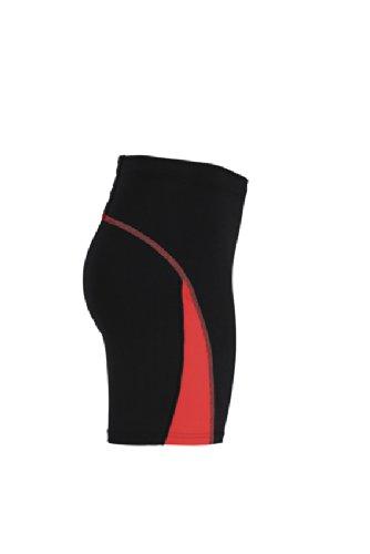 JAMES & NICHOLSON Ladies Running Short Tights - Pantalon de Maternité - Femme Rouge (Black/Tomato)