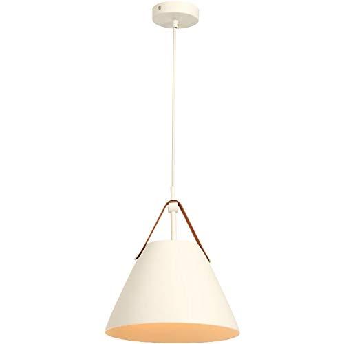XHJJDJ Schwarzes Pendelleuchte Industrielle Hängende Lichter Metall Scheune Bauernhaus Küche Beleuchtung Edison Deckenhalterung (Farbe : Weiß-Long 27cm) (Bauernhaus Küche Beleuchtung)