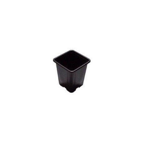 Godet en PVC noir - 9x9x10cm