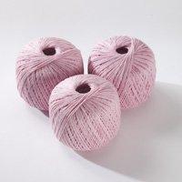 100% Organic Cotton - pink melange 50g
