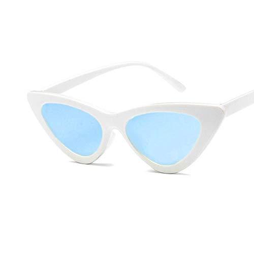 Passionate turkey Leidenschaftliche Truthahn Katzenauge Frauensonnenbrille getönte Farblinsen Herren Vintage Sonnenbrille Brillen Damen blau Designer Sonnenbrille, 13-weiß blau