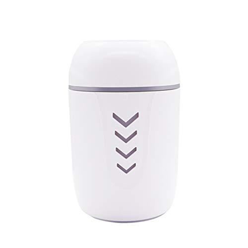 VRTUR 3 en 1 USB Mini humidificador Belleza hidratante Portátil Personalidad Humidificador Purificacion de Aire Atomización Luz led Ventilador pequeño