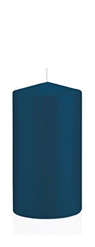 Stumpenkerzen Kerzen Petrol, Petrol 10 x 8 cm (H x Ø), 6 Stück, Wiedemann Kerzen, Markenkerzen Made in Germany in RAL Qualität