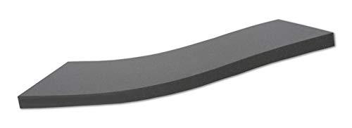 Alanpur® Nero • Orthopädische Kaltschaummatratze/Akustikschaumstoff • H2 • (Auswahl) Ohne Bezug • Made in Germany • (180 x 200 x 12 cm)