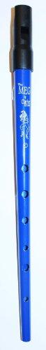 TIN WHISTLE Stimmung C blau -- die beliebte Whistle vom Originalhersteller aus England mit Grifftabelle und Noten zu 4 Songs ()