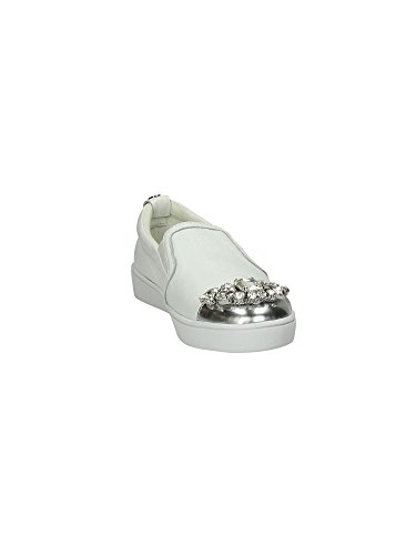 GUESS Glorienne slip on donna pietre ECO PELLE WHITE FLGL01LEA12 Bianco