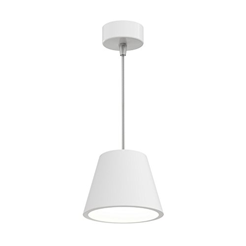 ledscom.de Gips Pendelleuchte Hängelampe GIEDI DIY, inkl. GX53 Lampe 420lm weiß 3-Stufen Dimmen ohne Dimmer mit Lichtschalter