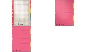 4350 Blanko-Register 230 g/qm Karton, farbig bedruckt - A4, 6 Blatt Kartonregister Blanko, A4. Leicht beschriftbares Deckblatt durch Rasterdruck, farbigen Taben und Lochung 8x8x8 cm. Material: Karton 230 g/qm (RC). Blattanzahl: 6. Format: 225 x 300 mm. Farbe: grau.