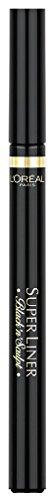 Anwenden Von Eyeliner (L'Oréal Paris Super Liner Black'n'Sculpt, schwarz - Eyeliner mit kugelförmiger Filzspitze, revolutionäre Sculpting Technologie - für ein präzises Konturieren der Augen, 1er Pack (1 x 2 g))