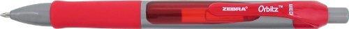 zebra-pen-orbitz-gel-retractable-pen-07mm-red-ink-12-count-41030-by-zebra-pen
