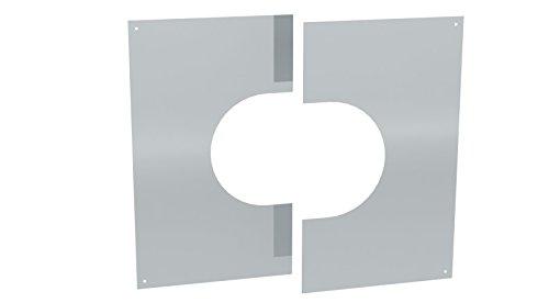 Wandblende / Deckenblende zweiteilig 31°- 45° für doppelwandige Schornsteine DW; Ø 160mm Innendurchmesser, Edelstahl