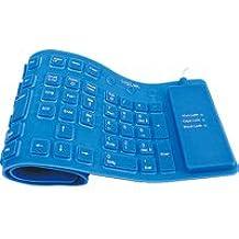 LogiLink ID0035 - Teclado flexible de silicona USB & PS/2, azul