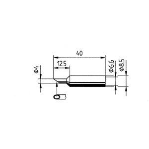 Preisvergleich Produktbild Ersa ERSADUR Dauerlötspitze gerade Power-Well mit Hohlkehle 4.0 mm 0832PW