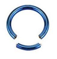 Piercing Boutique anodizzato titanio segmento Anello Naso/sopracciglio/Labret-1,2mm (16g) X 8mm di diametro, colore: blu