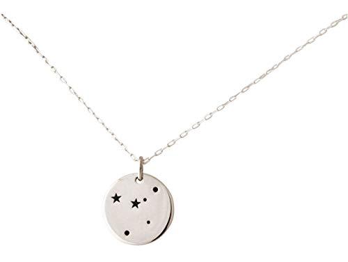 GEMSHINE Cosmic Konstellation Halskette mit Horoskop Sternzeichen Cancer Krebs aus 925 Silber, hochwertig vergoldet oder rose - Made in Madrid, Spain, Metall Farbe:Silber