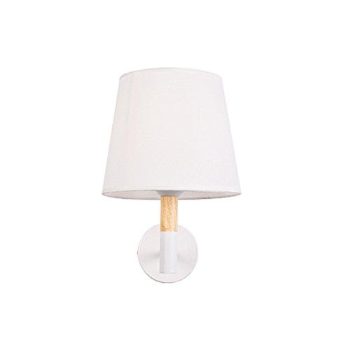 Applique murale minimaliste moderne Lampe de chevet Europe du Nord escaliers salon TV Wall étude chambre E27 * 1 ( Couleur : Blanc )