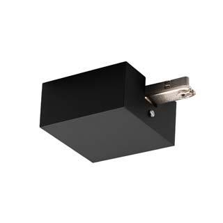 SLV EINSPEISER Einspeiser mit Gehäuse Indoor-Lampe Aluminium/Stahl Schwarz Lampe innen, Innen-Lampe