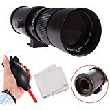 Runshuangyu 420–800mm f/8.3–16HD Zoom teleobiettivo messa a fuoco manuale + T2/T anello adattatore per Canon EOS 6D 60D 70D 600D 650D 700D 650D 7D 7DII 5DII 5DIII camera