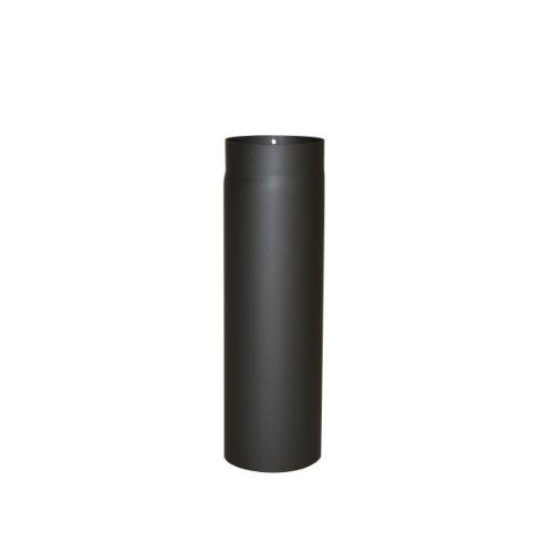 Kamino Flam Ofenrohr schwarz, Rauchrohr aus Stahl für sichere Ableitung von Verbrennungsgasen, hitzebeständige Senotherm® Beschichtung, geprüft nach Norm EN 1856-2, Maße: L 500 x Ø 150 mm