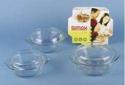 SIMAX Schüssel mit Deckel, Glas, Transparent 24.9 x 24.9 x 9.3 cm