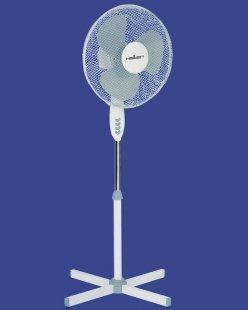 Heller Ventilator STV 4006 Standventilator, oszillierend Ø40cm Grau/weiß