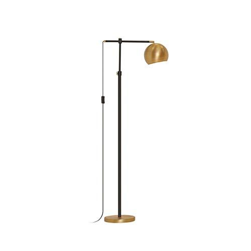 Stehlampe Messing Wohnzimmer Sofa Dekoration Licht Schlafzimmer Nacht Lesen Vertikale Lampe Nordic Einfache Kreative Klavier Angeln Lichter (Color : Black, Size : 35cm*150cm) -