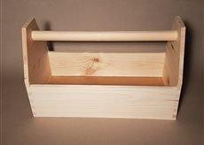 Werkzeugkiste Montagekiste Nagelkiste Holzbox 42 x 21 x 26 cm, Vollholz, NEU