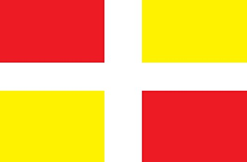 magFlags Flagge: Large Mirandese   Land of Miranda, Area in Northern Portugal   Mirandskej zeme v severnom Portugalsku   Querformat Fahne   1.35m²   90x150cm » Fahne 100% Made in Germany