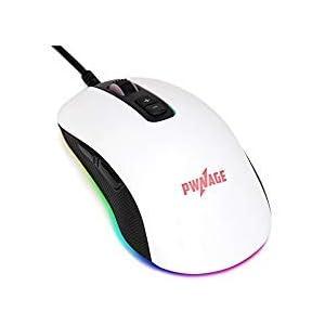 Pwnage ALTIER Pro Gaming Maus–3360Kabelgebundene Optische–RGB 16,8Millionen Spectrum Beleuchtung -, 7programmierbare Tasten–12.000DPI optischer Sensor–pixart pmw3360–Weiß Version