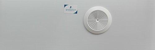 grebalux Acrylglas Fensterabdichtung für mobile Klimageräte,Komplettset für Rollladen bis 100 cm,alle Durchmesser (milchglas oder transparent)