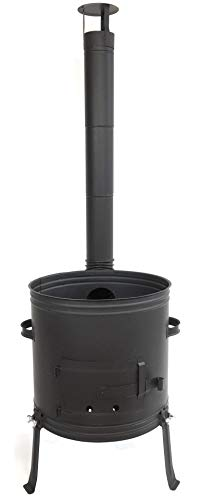 Grillplanet Gulaschkanone 42 cm Ofen für Gulaschkessel 22 Liter oder 30 Liter (Feldküche, Holzofen, Terrassenofen)