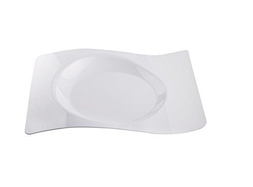 Gold Plast - Piatto Forma, colore bianco - 6 pz per confezione, Capienza 130 cc