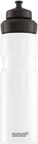 Sigg WMB Sports White Touch, Sport Trinkflasche, 0.75 L, Aluminium, BPA Frei, Weiss - 0.75