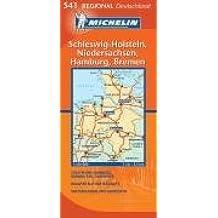 Schleswig Holstein/Hamburg/Niedersachsen (Michelin Regionalkarte)