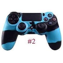 Groupon 1 x Funda de Silicona PS4 Azul Negro