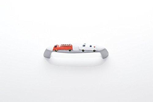 """Preisvergleich Produktbild Griff Möbelgriff Schrankgriff Kinder Motiv """"Feuerwehr und Krankenwagen"""" BLA = 64mm"""