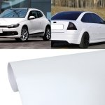 RISHIL WORLD 1.52m * 0.5m Car Decal Film Auto Modified Vehicle Sticker Vinyl Air Bubble Sticker Electro-Optical Film Protective Film(White)