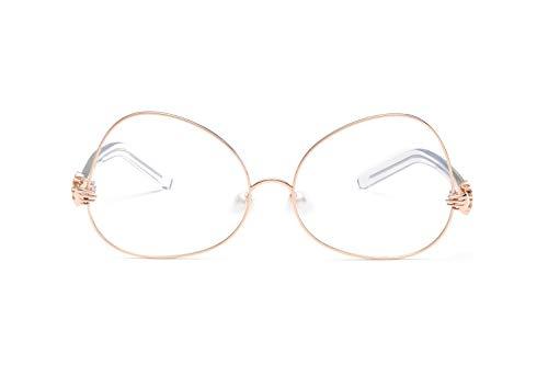 Smile Neue Metal-Frame HD Ocean Film Fashion Männer und Frauen Sonnenbrillen Pearl Nose Pad Fashion Sonnenbrille,NO8