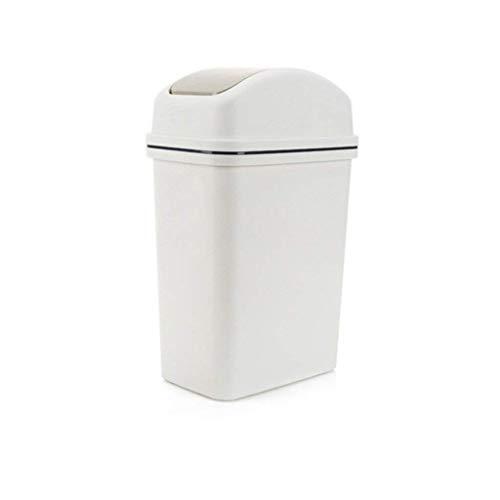 Mülleimer, Home Indoor Umwelt Abfall Schütteln kann den Papierkorb Papier Warenkorb Schlafzimmer Wohnzimmer Küche Badezimmer Kunststoff Papierkorb (Farbe: A) (Farbe: A) - Eine (Warenkorb Abfälle)
