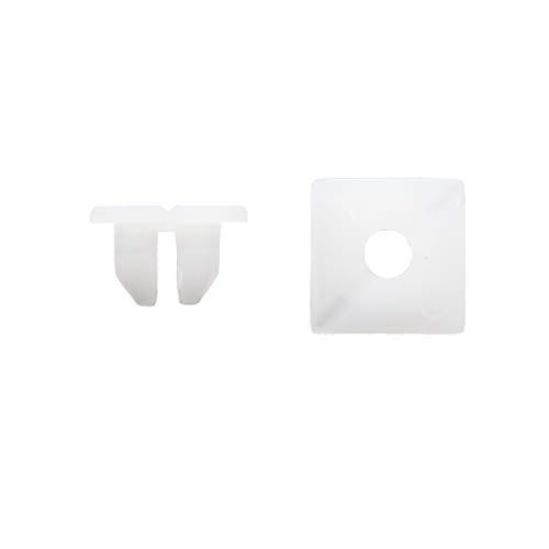20Pcs Blanc Plastique Rivets Type-Poussoir Clip de Fixation Trou de 11mm