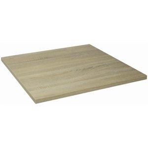 Quadratische Holz-finish Tisch (Lamidur gg293Top Finish Tisch quadratisch, 680mm)