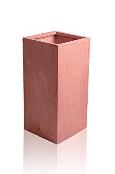 Cache-pot en fibre de verre aspect terracotta Groß