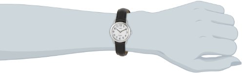 Timex-Womens-Quartz-Watch-with-Dial-Analogue-Display-and-Leather-Strap