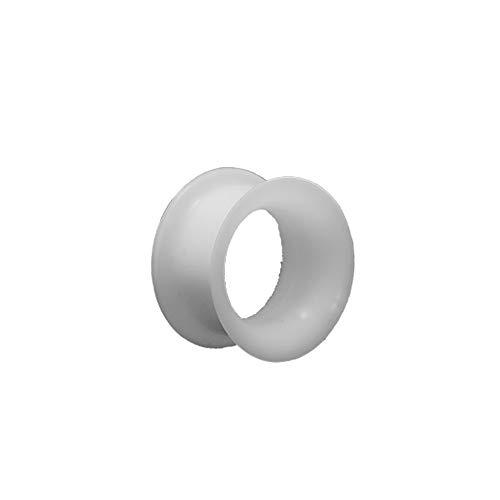 eeddoo 26 mm - WT - White/Weiss - Silikon - Tunnel (Piercing Flesh Tunnel Ohr Plug für gedehnte...