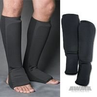 Proforce Cloth Shin Instep Guard Black, Child Large -