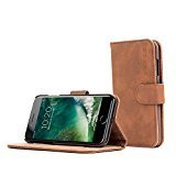 iPhone 7 and 8 Hülle, Snugg Apple iPhone 7 and 8 Klappetui Flip Cover Tasche Leder [Kartenfächer] Schutzhülle Lederbrieftasche Executive Design – Braun, Legacy Range