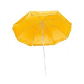 Strandschirm / Sonnenschirm / stufenlos verstellbar / mit Tasche / Farbe: gelb